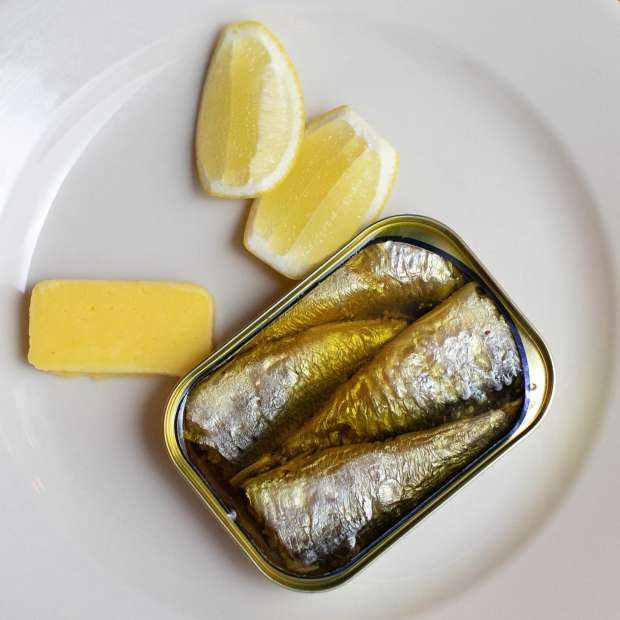 Bordier Sardines with Demi-Sel Butter