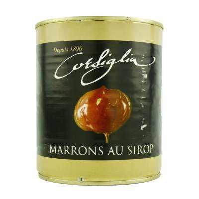 Corsiglia Facor Whole Candied Chestnuts in Syrup