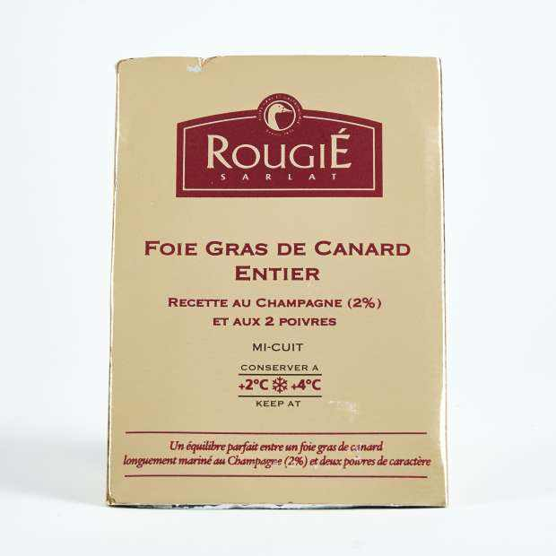 Rougie Semi Preserved Whole Duck Foie Gras with 2 Peppers and Champagne