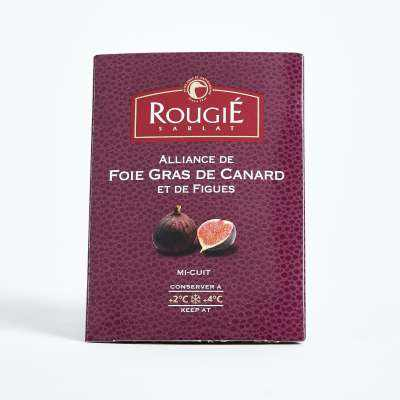 Rougie Semi Preserved Whole Duck Foie Gras with Figues