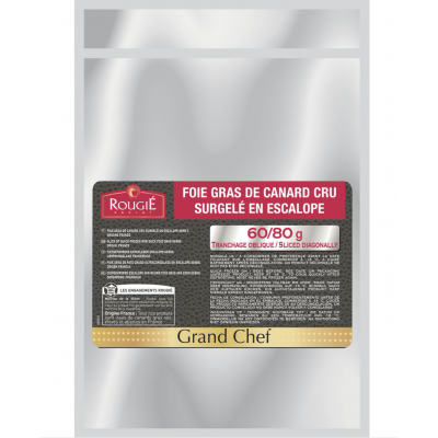 Rougie Slices Raw Duck Foie Gras Hand Cut Grand Chef 60/80g