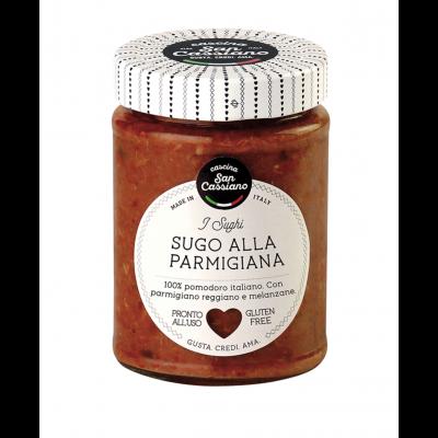 Cascina San Cassiano Parmigiano Reggiano with Aubergine
