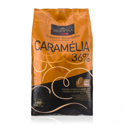 Valrhona Caramelia 36% Milk Chocolate Feves
