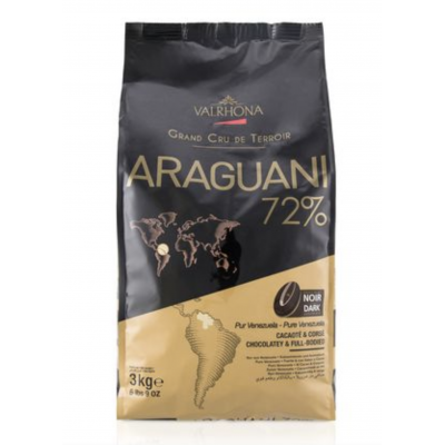 Valrhona Araguani 72% Dark Chocolate Feves